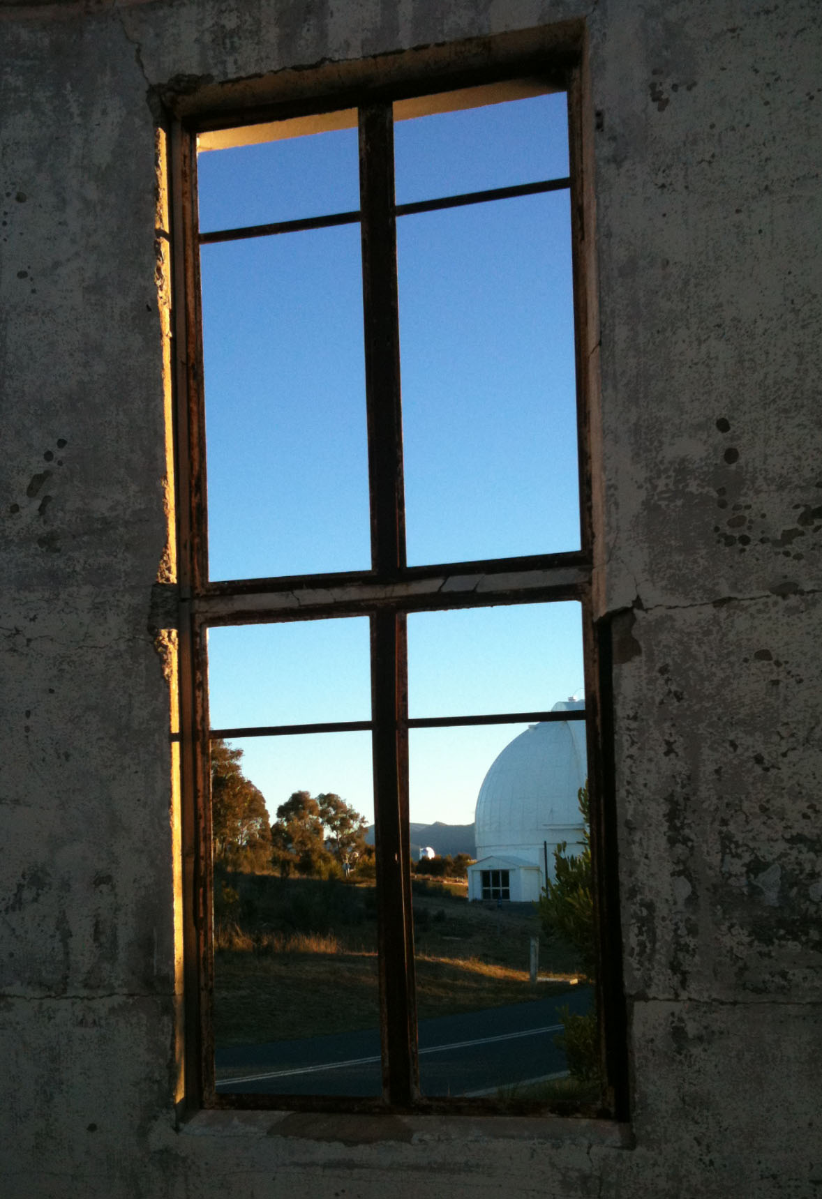 Burnt out observatory - Mt Stromlo