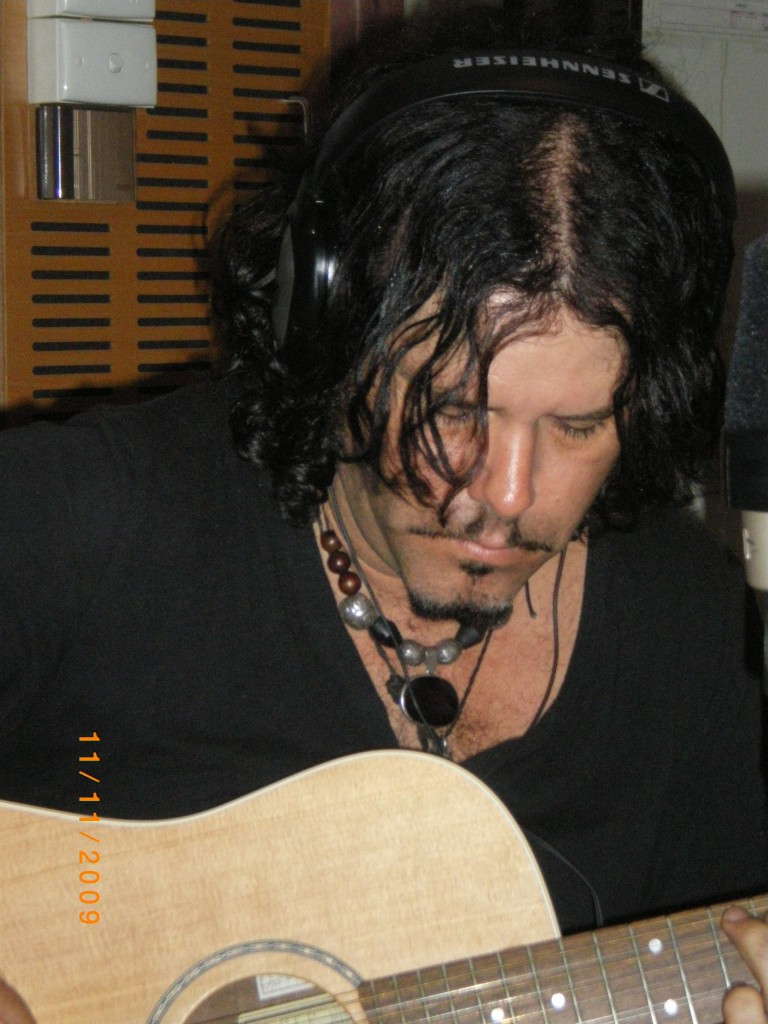 When friends come to play - Jeff Martin in my studio