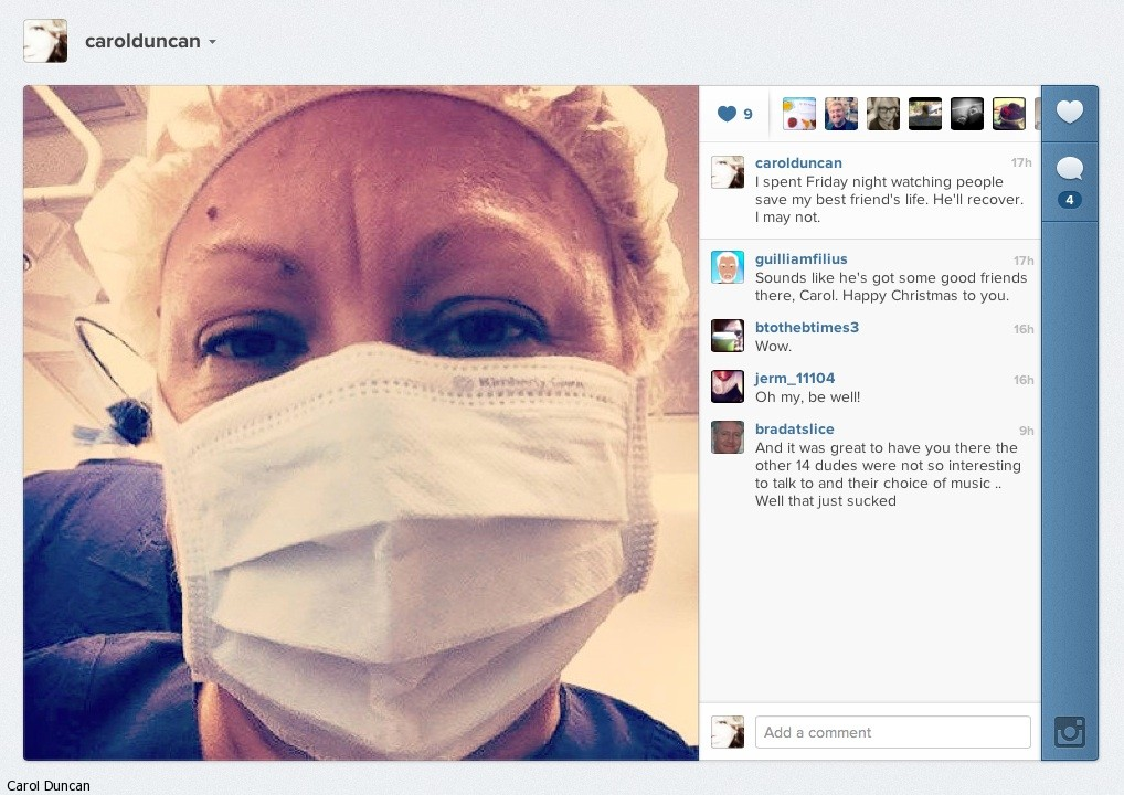 Carol Duncan - Australian broadcaster and journalist follows her friend's throat cancer journey.